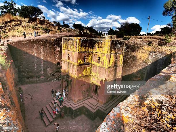 saint george church - lalibela stock photos and pictures