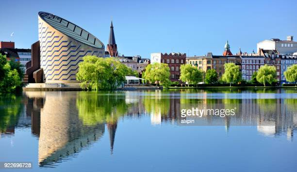 saint george's lake, copenhagen - copenhagen stock pictures, royalty-free photos & images