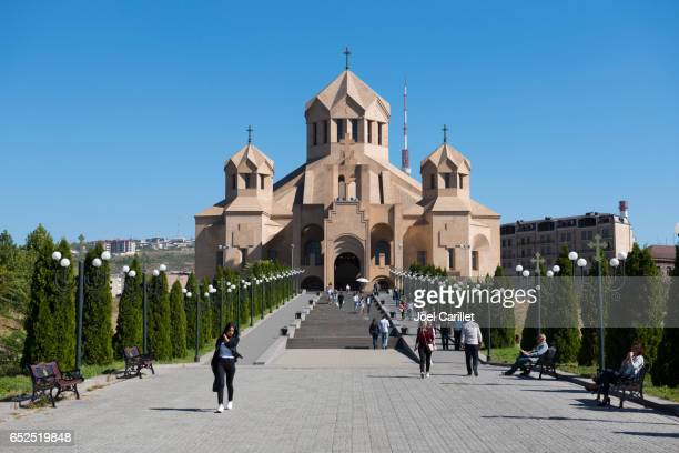 saint gregory the illuminator cathedral in yerevan, armenia - armenia stock pictures, royalty-free photos & images