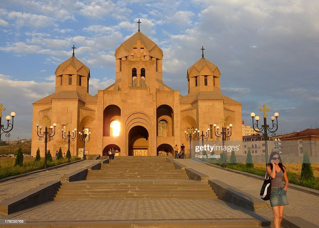 The Cathedral in Yerevan,  Armenia : Nieuwsfoto's