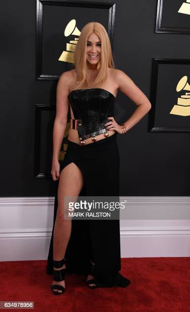 Saint Heart arrives for the 59th Grammy Awards on February 12 in Los Angeles California / AFP / Mark RALSTON