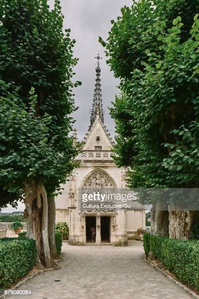 Saint Hubert Chapel where Da Vinci is buried, Amboise, Loire Valley, France