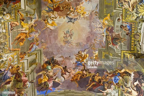 saint ignatius church, sant ignazio, rome, italy - religious saint stock pictures, royalty-free photos & images