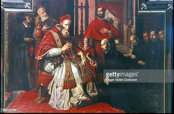 Saint Ignatius Loyola founder of the Society of Jesus and Paul III pope from 1534 to 1549 Rome