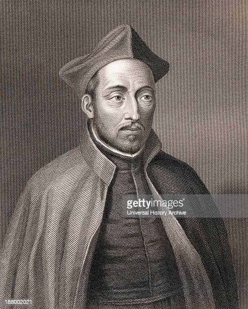 Saint Ignatius Of Loyola 1491 To 1556 Spanish Knight Hermit Priest And Founder Of The Society Of Jesus After A 19Th Century Engraving By W Holl