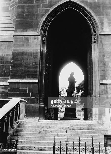 Saint Jacques Tower In Paris On 1935