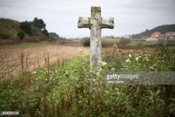 Saint James Way cross, Galicia.