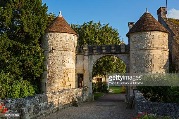 Saint Jean au Bois, main gate of the village, forest of Compiegne, picardy,oise,france