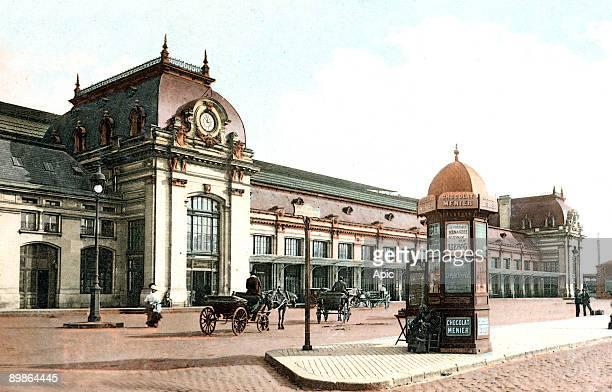 Saint Jean station in Bordeaux, postcard, c. 1909