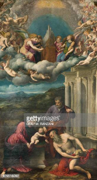 Saint Jerome receiving the cardinal's hat by Paris Bordone oil on canvas 15th Chapel Church of Santa Maria dei Miracoli presso San Celso Milan...