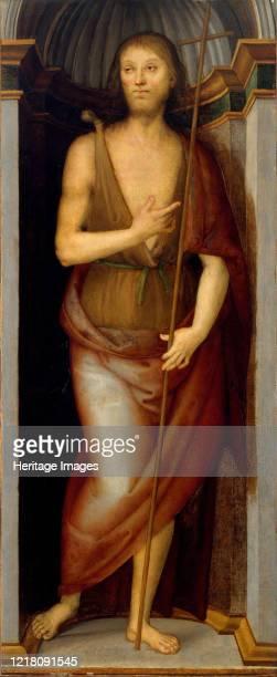 Saint John the Baptist; Altarpiece for the church of Santissima Annunziata, Florence. Artist Perugino .