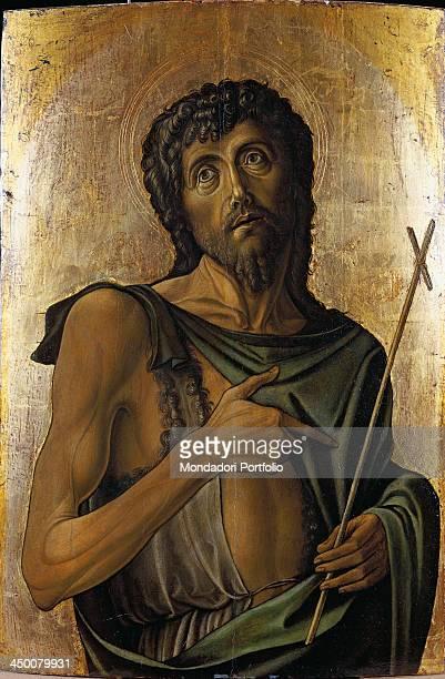 Saint John the Baptist by Alvise Vivarini 15th Century tempera and oil on poplar wood