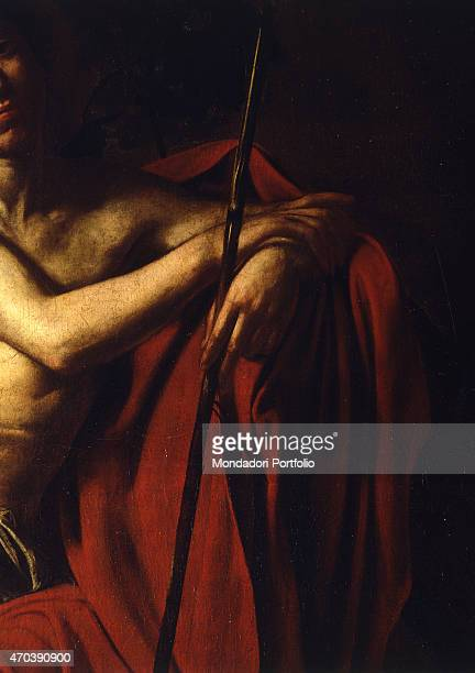 'Saint John the Baptist by Michelangelo Merisi known as Caravaggio 16091610 17th Century oil on canvas 159 x 124 cm Italy Lazio Rome Borghese Gallery...
