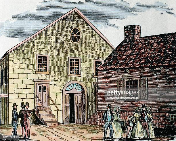 Saint John's methodist Church New York United States Nineteenthcentury colored engraving