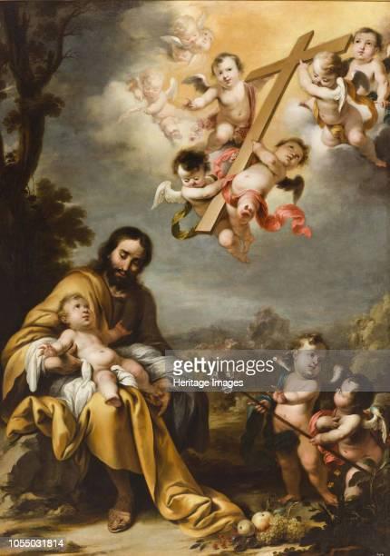 Saint Joseph and the Christ Child before the Holy Cross circa 1670 Found in the Collection of Patrimonio Nacional Madrid Artist Schut Cornelis the...