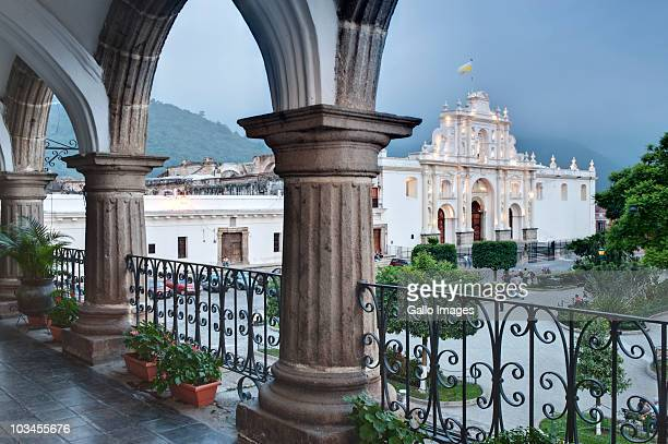 saint joseph cathedral, antigua guatemala, sacatepequez, guatemala, latin america - guatemala stock-fotos und bilder