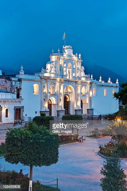 Saint Joseph Cathedral at dusk, Antigua Guatemala, Sacatepequez, Guatemala, Latin America