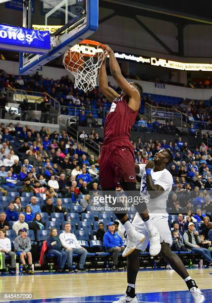 Saint Joseph's forward Charlie Brown dunks the ball in the second half during an Atlantic 10 Conference basketball game between the Saint Joseph's...