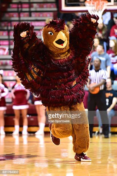 Saint Joseph's Hawks mascot revs up the crowd during a NCAA basketball game between the Richmond Spiders and St Joseph's University Hawks on January...