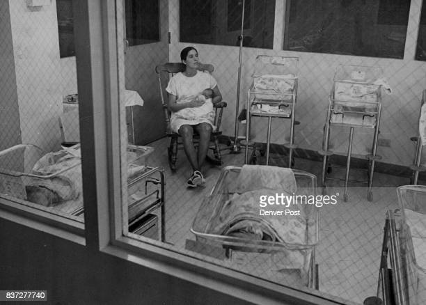 Saint Joseph's Hospital Babies Jane O'Keefe nurses baby in one of the nurseries at St Joseph Hospital There are no more than eight infants to a room...