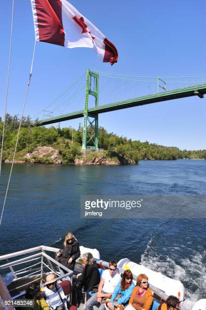 saint lawrence river and the thousand islands - kingston ontario stock photos and pictures
