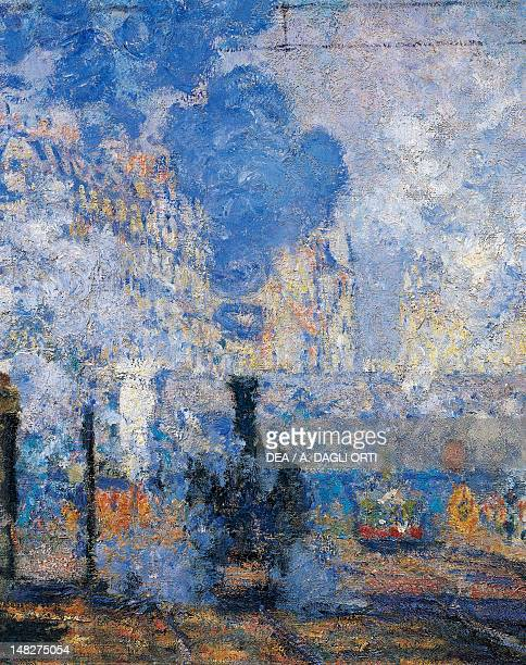 Saint Lazare Station by Claude Monet oil on canvas 755x104 cm Paris Musée D'Orsay