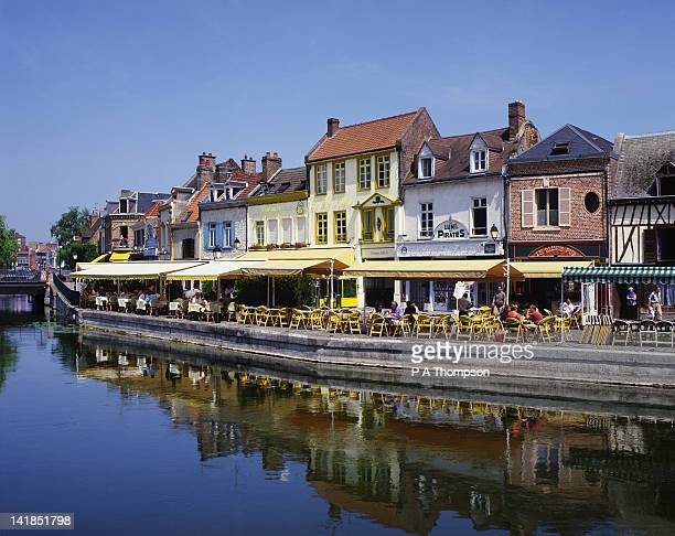 saint leu quarter and river somme, amiens, somme, picardy, france - オードフランス地域圏 ストックフォトと画像
