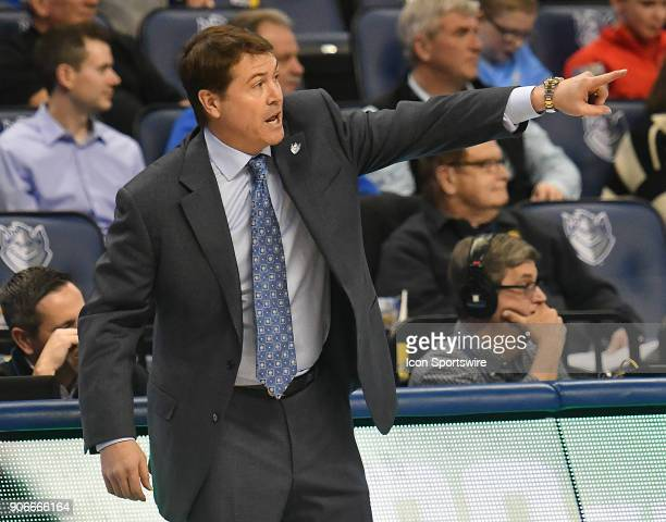 Saint Louis basketball coach Travis Ford during an Atlantic Ten Conference basketball game between the Duquesne Dukes and the Saint Louis Billikens...
