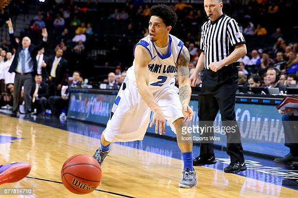 Saint Louis Billikens guard Austin McBroom during the second half of the game between the Saint Louis Billikens and the St Bonaventure Bonnies during...