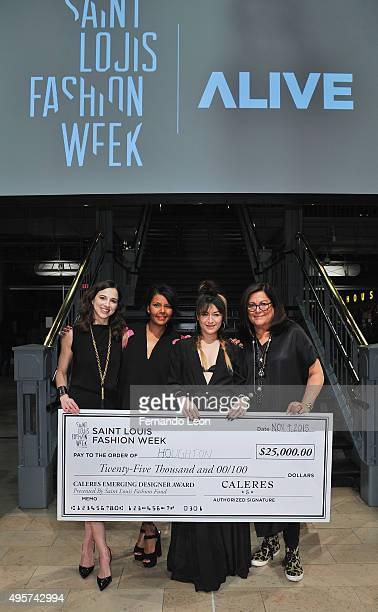 Saint Louis Fashion Week cofounder Elizabeth Tucker Caleres Emerging Designer Award Chair Tania BeasleyJolly Caleres Emerging Designer Award winner...