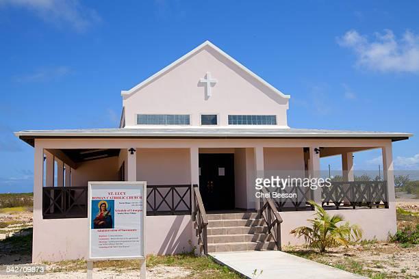 saint lucy catholic church south caicos - デルフトの新教会 ストックフォトと画像