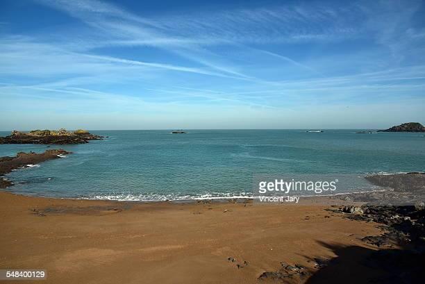 Saint Malo beach of Rotheneuf