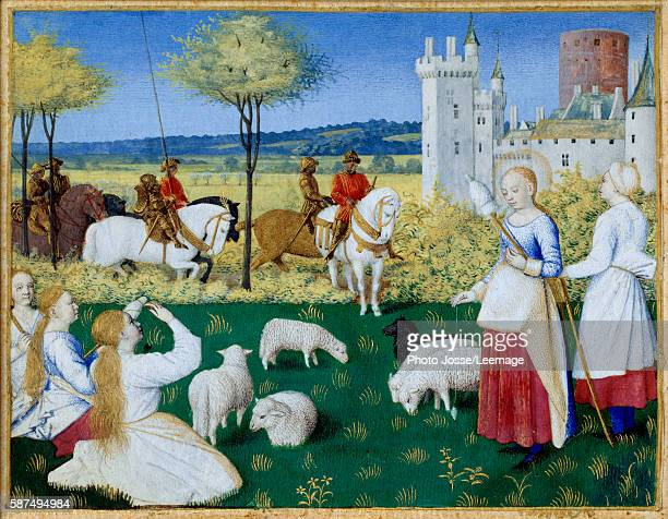 Saint Margaret of Antioch and Olibrius . Episode of the Golden Legend by Jacques de Voragine . The Roman prefect Olibrius falling in love with...