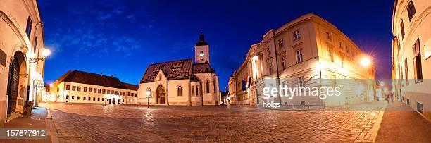 st. marks church in zagreb, kroatien - zagreb stock-fotos und bilder