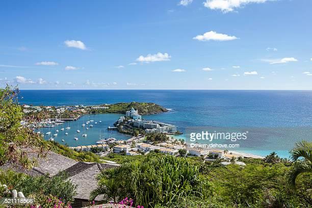 saint martin beach - sint maarten stockfoto's en -beelden