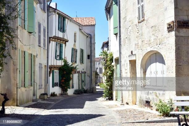 saint martin de ré city france - la rochelle stock pictures, royalty-free photos & images