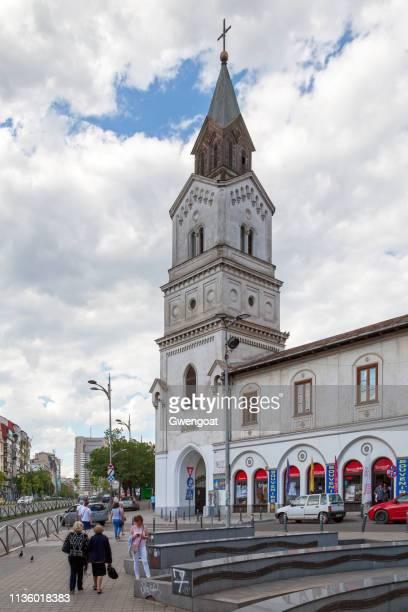 igreja de santa maria de graces em bucareste - gwengoat - fotografias e filmes do acervo