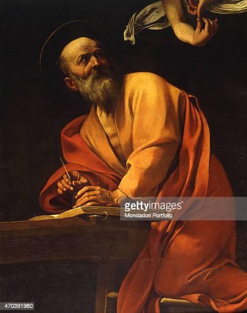 'Saint Matthew and the Angel by Michelangelo Merisi known as Caravaggio 17th Century oil on canvas 292 x 186 cm Italy Lazio Rome Church of Saint...