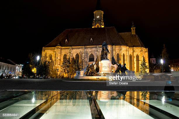 Saint Michael Catheral at night