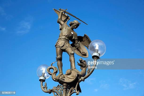 Saint Michael slaying a dragon