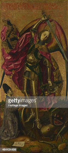 Saint Michael Triumphs over the Devil 1468 Found in the collection of the National Gallery London