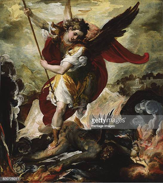 Saint Michael Vanquishing Satan Found in the collection of ThyssenBornemisza Collections