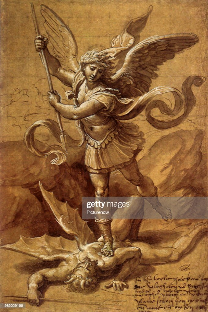 saint michael vs satan workshop of raphael news photo getty images