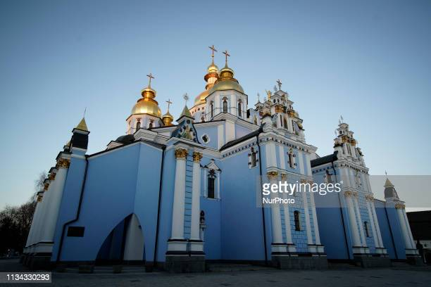 Saint Michael's Goden Domed Monastery is seen in central Kyiv Ukraine on April 1 2019