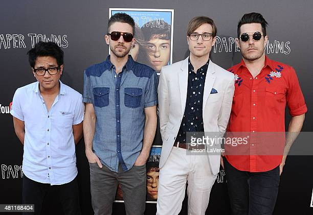 Saint Motel attends the Paper Towns QA and live concert at YouTube Space LA on July 17 2015 in Los Angeles California