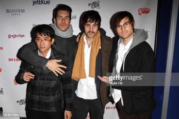 Saint Motel attends the Rock Roll Circus under the Big Apple Circus tent at Lincoln Center on January 4 2011 in New York City
