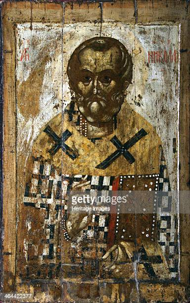 Saint Nicholas 14th century Russia Yaroslavl School Found in the collection of the State Tretyakov Gallery Moscow