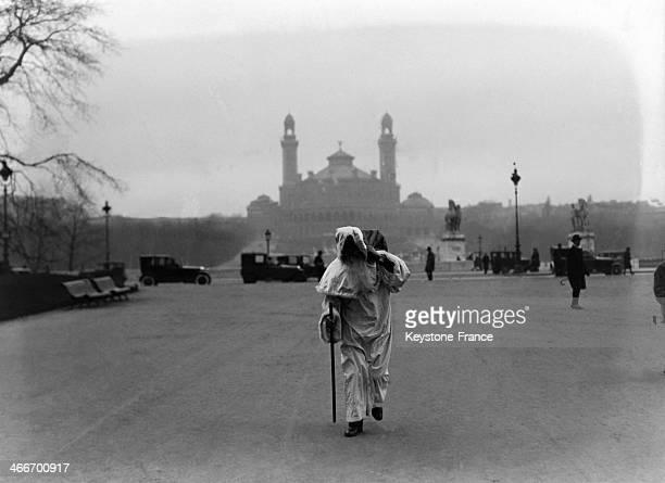 Saint Nicholas arrives in Paris on Saint Nicholas Day in December 1929 in Paris France