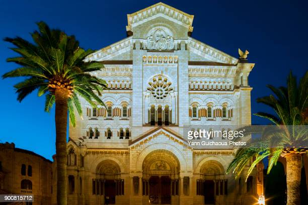 saint nicholas cathedral, principality of monaco, french riviera - st. nicholas cathedral stock pictures, royalty-free photos & images