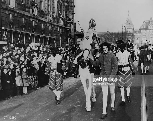 Saint Nicholas Celebration In Amsterdam On November 21St 1954